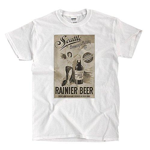 Rainier Beer Vintage Ad white T-Shirt - Beer Shirt Rainier
