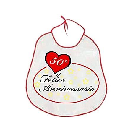Anniversario Matrimonio 41 Anni.Pazza Idea Bavaglione Bavaglia Adulti Scritta 50 Anni Anniversario