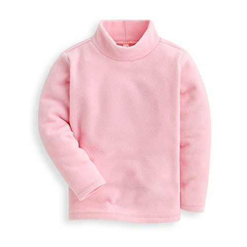 Mud Kingdom Girls Shirts Fleece Turtleneck Base Tops Plain 5 Light ()