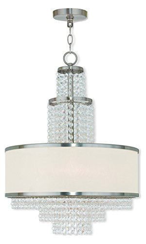 (Brushed Nickel Prescott 5 Light 1 Tier Chandelier)