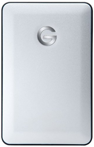 G-Technology G-DRIVE Mobile USB 1TB 5400RPM Portable External Hard Drive with USB 2.0 (silver) (0G02221)