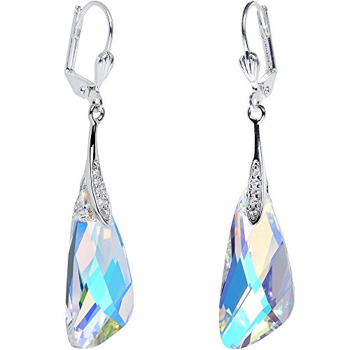 Body Candy Handcrafted Silver Plated Aurora Inspire Dangle Earrings Created with Swarovski Crystals