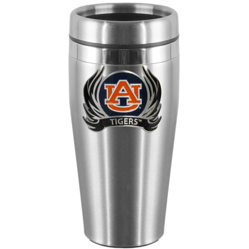 NCAA Auburn Tigers Steel Travel Mug with Flame (Flame Logo Mug)