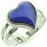 fablcrew creativo anillo chapado en plata de corazón