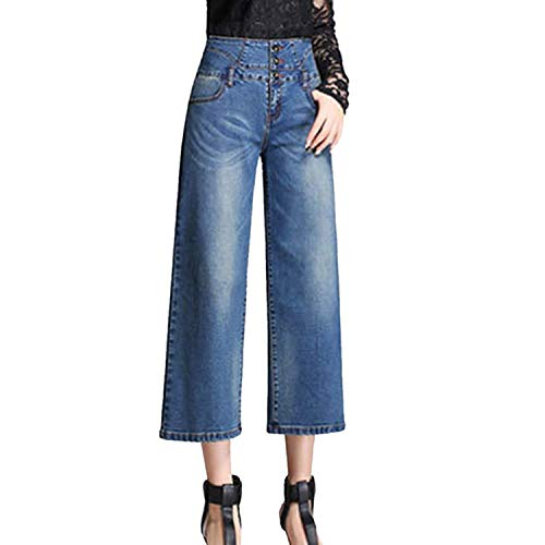 Minghe Women's High Waisted Wide Leg Jeans Stretch Denim Bootcut/Cropped Flare Jean