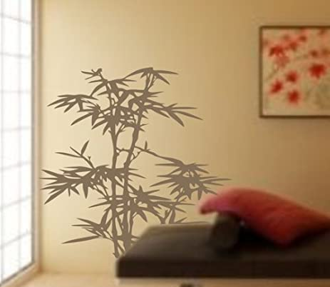 Bamboo Decal Sticker Vinyl Wall Art Plant Asian Japanese Plants - Vinyl wall decals asian