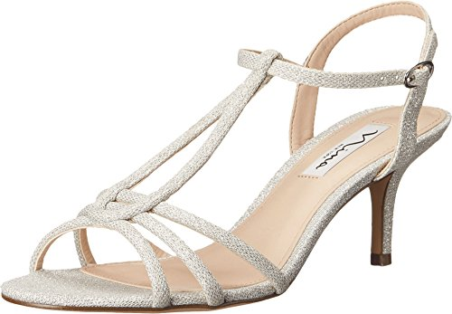 Nina Women's Charece Dress Sandal, Silver, 7 M US