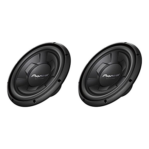 Pioneer 1300 Watt 12 Inch Single 4-Ohm Car Audio Subwoofer, 2 Pack | TS-W126M (2 12 Inch Subwoofers Pioneer)