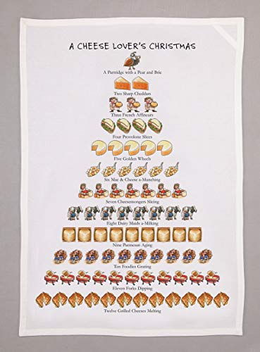 Allport Editions Cheese Lover's Christmas - Tea Towel - 12 Days of Christmas ()