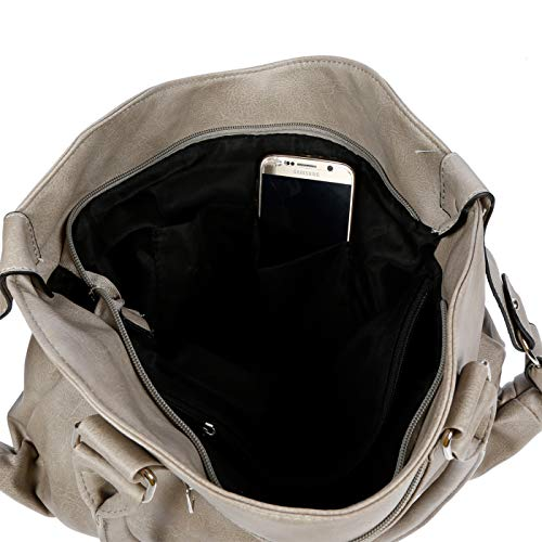 Mujer Cuero large Bolso Sintético De Asas Para X Gris Kossberg S8YwpqtS