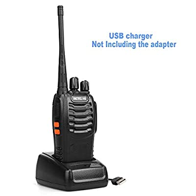 Retevis H-777 Two Way Radio Signal Band UHF 400-470MHz Rechargeable Walkie Talkies