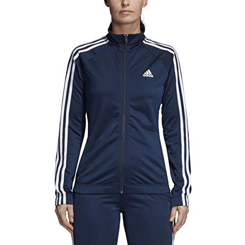 adidas Womens Designed-2-Move Track Jacket, Collegiate Navy/White, X-Small