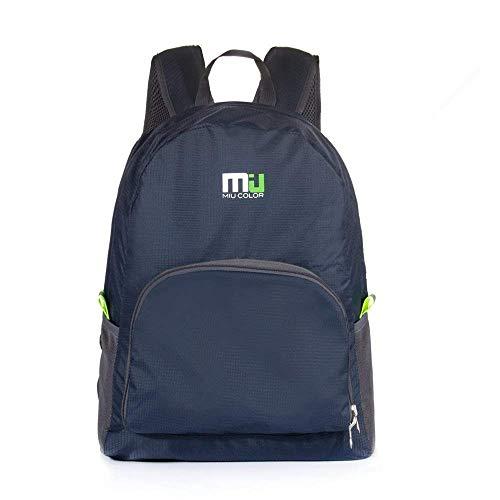 MIU COLOR Foldable Durable Lightweight Backpack, Packable Waterproof Daypack, Dark Blue