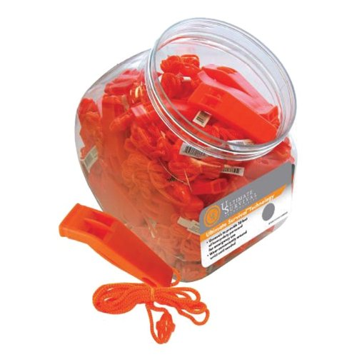 Essential Gear 26-310-019-A80 Marine Whistle Bulk, Orange, 80 Pc Cookie Jar by REVERE SURVIVAL PROD