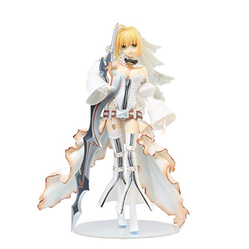 Siyushop Fate/Grand Order: Saber/Nero Claudius Bride Version PVC Figure - Highly Detailed Accurate Sculpt - Equipped with Weapons - High 24CM