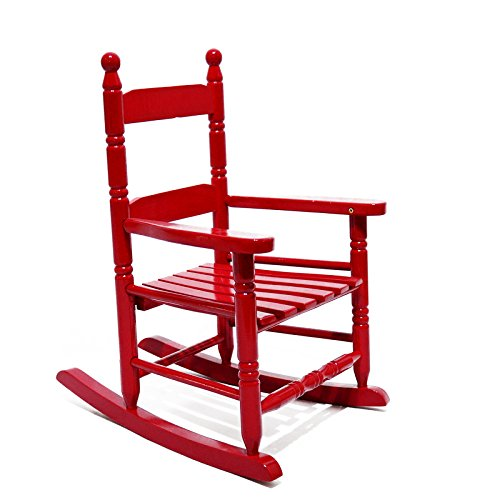 Child Red Rocking Chair ~ Casun garden child s porch rocker rocking chair solid
