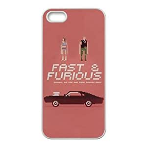 Iphone 5,5S 2D PersonFast and Furiouszed Phone Back Case with Fast and Furious Image