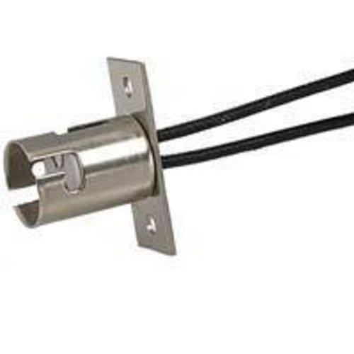 Satco 90-1560 - DC Bayonet Socket with Mounting Bracket - 500 Watt - 125 Volt - 9 in. Leads Bayonet Socket