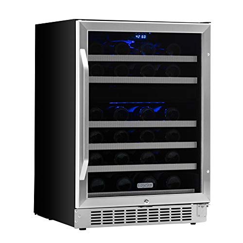 EdgeStar CWR461DZ 24 Inch Wide 46-Bottle EdgeStar Built-In Dual-Zone Wine Cooler