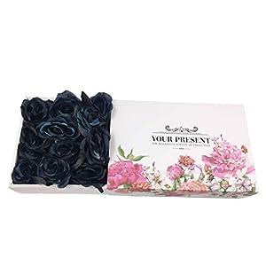 Topgalaxy.Z Artificial Flowers Black Roses, 25pcs Fake Roses w/Stem DIY Wedding Bouquets Centerpieces Arrangements Party Home Halloween Decorations, Halloween Decor Flower Party 3