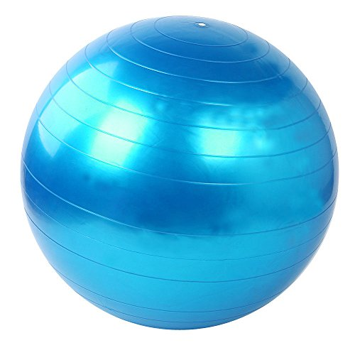 Zowaysoon 75cm Yoga Ball Anti Burst Exercise Stability Balance Ball with pump
