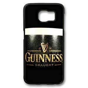 E-luckiycase Guinness Draught Dark Beer Glass PC Hard Shell Black Edges Case for Samsung Galaxy S6 Kimberly Kurzendoerfer