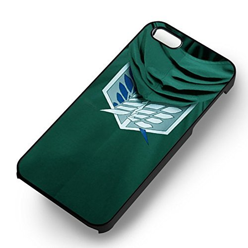 Attack on Titan Levi's Cloak pour Coque Iphone 6 et Coque Iphone 6s Case (Noir Boîtier en plastique dur) Z3A7IE