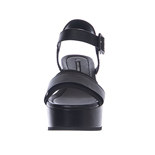 Sandalo Pelle Joni in Smith Windsor Nero Nera 5TOHASS
