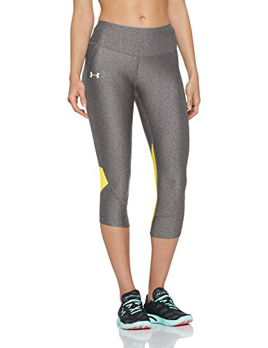 Under Armour Women's Armour Fly Fast Capris, Charcoal Light Heath /Reflective, X-Small by Under Armour (Image #1)