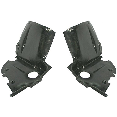 Splash Shield Front Left and Right Side Fender Liner Set of 2 Plastic Front Lower Section for C-CLASS 01-07 (203) Chassis