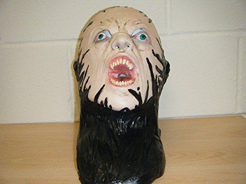 WRESTLING MASKS UK Zombie Monster Face Deluxe Latex Horror Halloween Fancy Dress Costume Head Mask ()