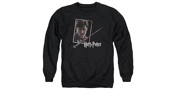 Harrys Wand Portrait Adult Crewneck Sweatshirt Harry Potter