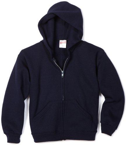 - Soffe MJ Big Boys' Zip Hooded Sweatshirt, Navy, Large
