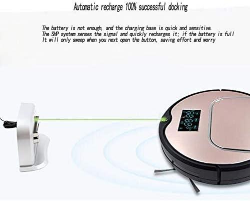 Ting Ting Aspirateur Robot,Nettoyage Automatique avec la télécommande, ramasse Les Poils d\'animaux