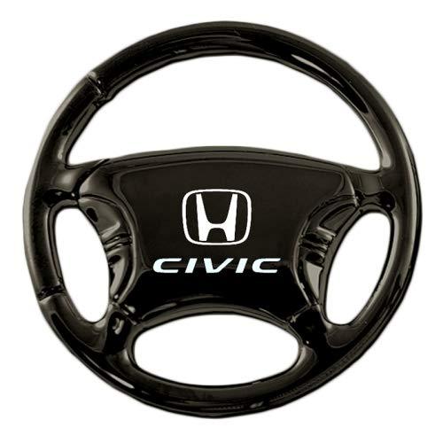 Au-Tomotive Gold, INC. Honda Civic Black Chrome Steering Wheel Key Chain
