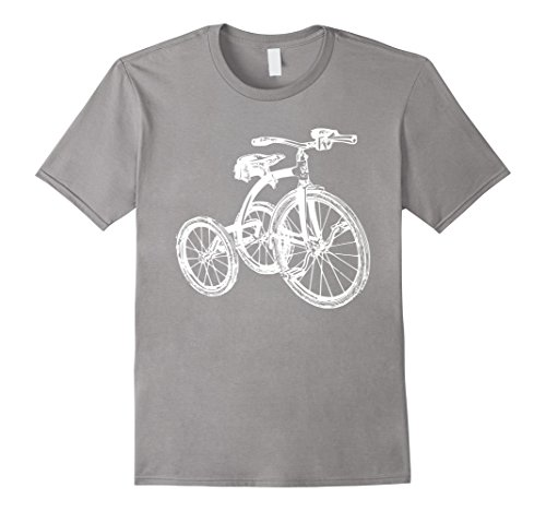 Mens Vintage Retro Tricycle Bicycle Bike Sketch T-shirt M...
