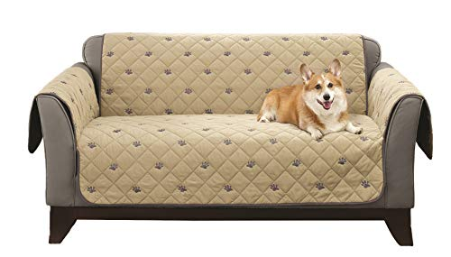 (South Bay Loveseat Embroidery Pet Protector with Silicone)