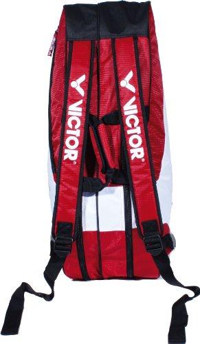 VICTOR Sporttasche Doublethermobag 9113, rot/weiß/schwarz, 75 x 25 x 32 cm, 911/5/3