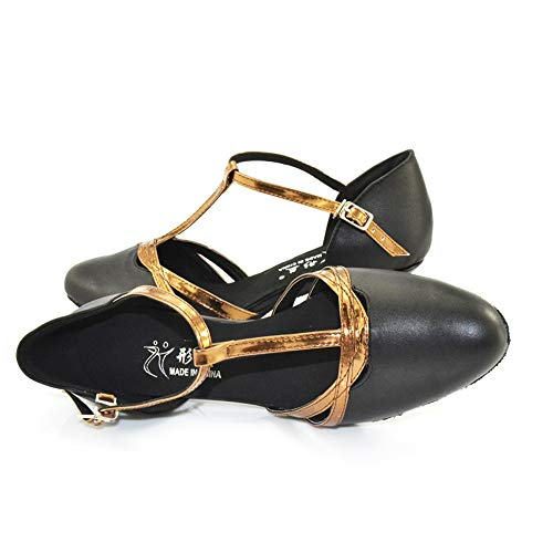Leather High Black5cm Dance Shoes Dancing Heels Latin QXH Sandals Banquet Women's Shop Shoe x7vwn8qzFf