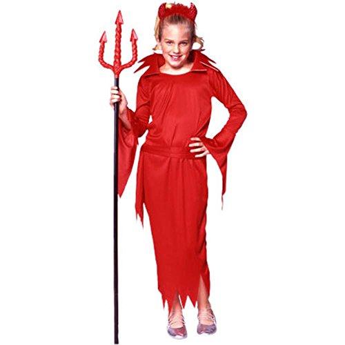Child's Girl's Little Red Devil Girl Halloween Costume (Size:Large (Little Red Devil Halloween Costume)