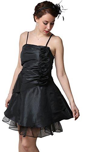 ROBLORA-Cóctel ceremonia vestido de noche vestido de dama de honor de la boda de bustier corto OGANSA negro