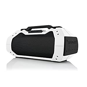 BRAVEN BRV-XXL Large Portable Wireless Bluetooth Speaker [Waterproof][Outdoor] Built-In 15,600mAh Power Bank USB Charger - White / Black