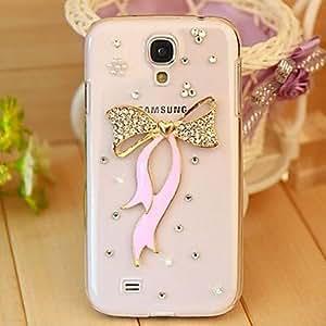 SHOUJIKE Crystal Luxury Swarovski Ribbon Diamonds Back Cover Case for Samsung Galaxy S4 I9500(Assorted Colors)