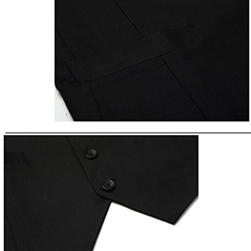 Slim Suit Fashionable Fit calidad alta Jacket Sleeveless Waistcoat Zhhlinyuan Vest Black Mens Designed Top H4wqRtWgx