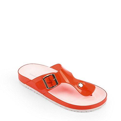 Ceinturon avec Elise Ideal Nu Rouge en Shoes Pieds Plastique wRUxYO