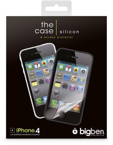 The case - silicon, black & white, für iPhone 4
