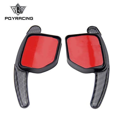 PQYRACING Paddle Shift Extensions Steering Wheel Shifters Gear Carbon Fiber Style for Audi