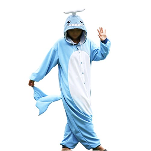 WOTOGOLD Animal Cosplay Costume Whales Unisex Adult Pajamas, Blue, -