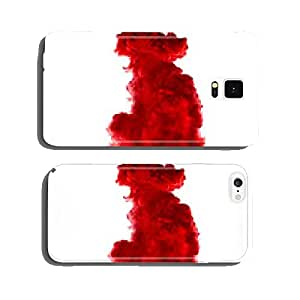 Red Acrylic Ink in Water. Color Explosion cell phone cover case iPhone6 Plus