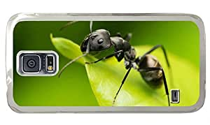 Hipster pretty Samsung S5 Cases Black Ant PC Transparent for Samsung S5